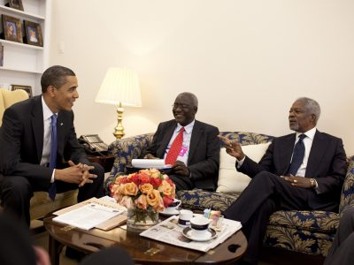 Kofi Annan with Barack Obama