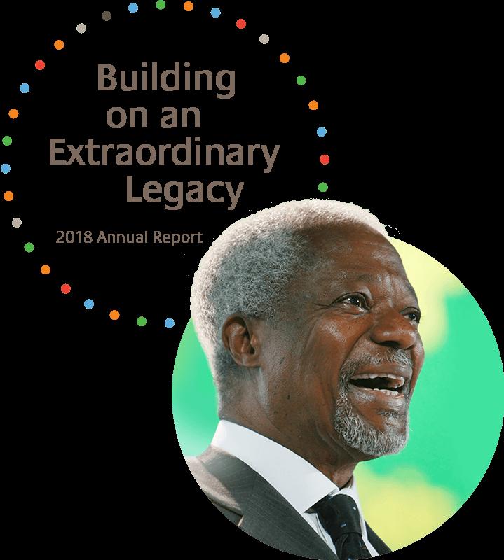 Kofi Annan Foundation Founder, Kofi Annan, speaking.