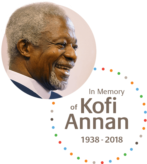 Kofi Annan Foundation Founder, Kofi Annan, smiling.