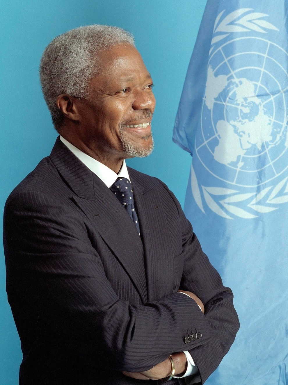 Secretary-General Kofi Annan, official portrait. UN Photo/Evan Schneider
