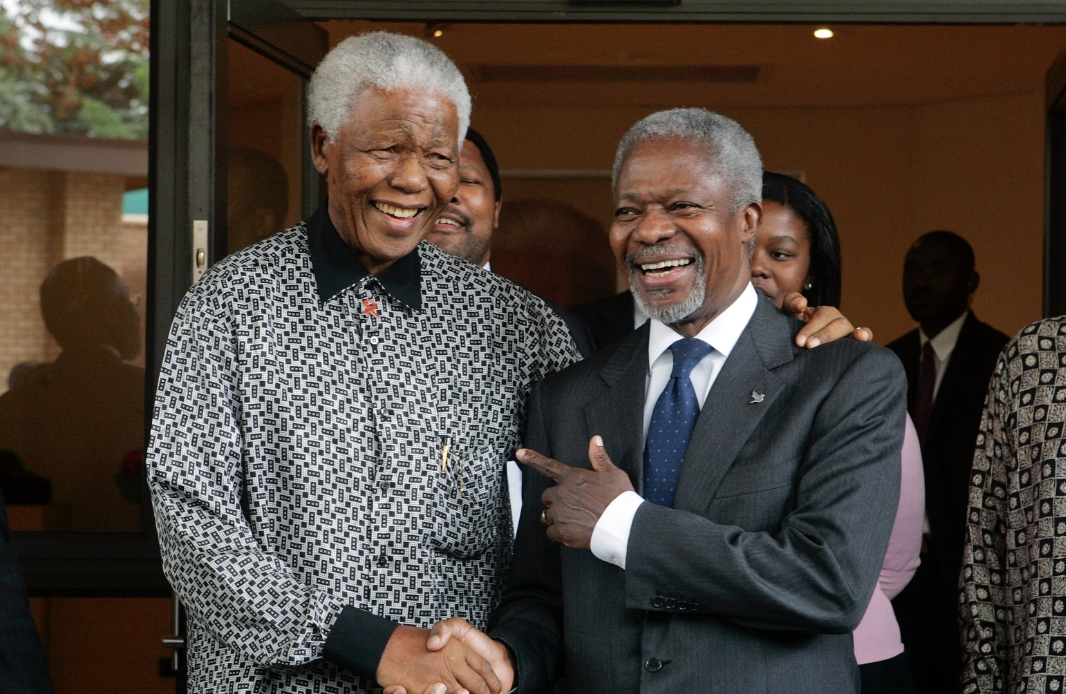Nelson Mandela and Kofi Annan. UN Photo/Eskinder Debebe