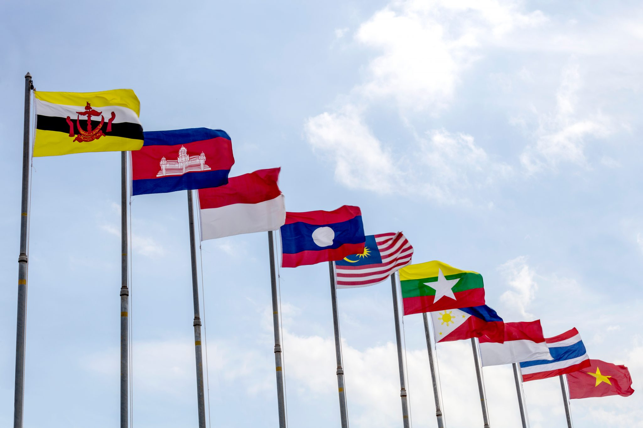 Flags of Southeast asia countries, AEC, ASEAN Economic Community