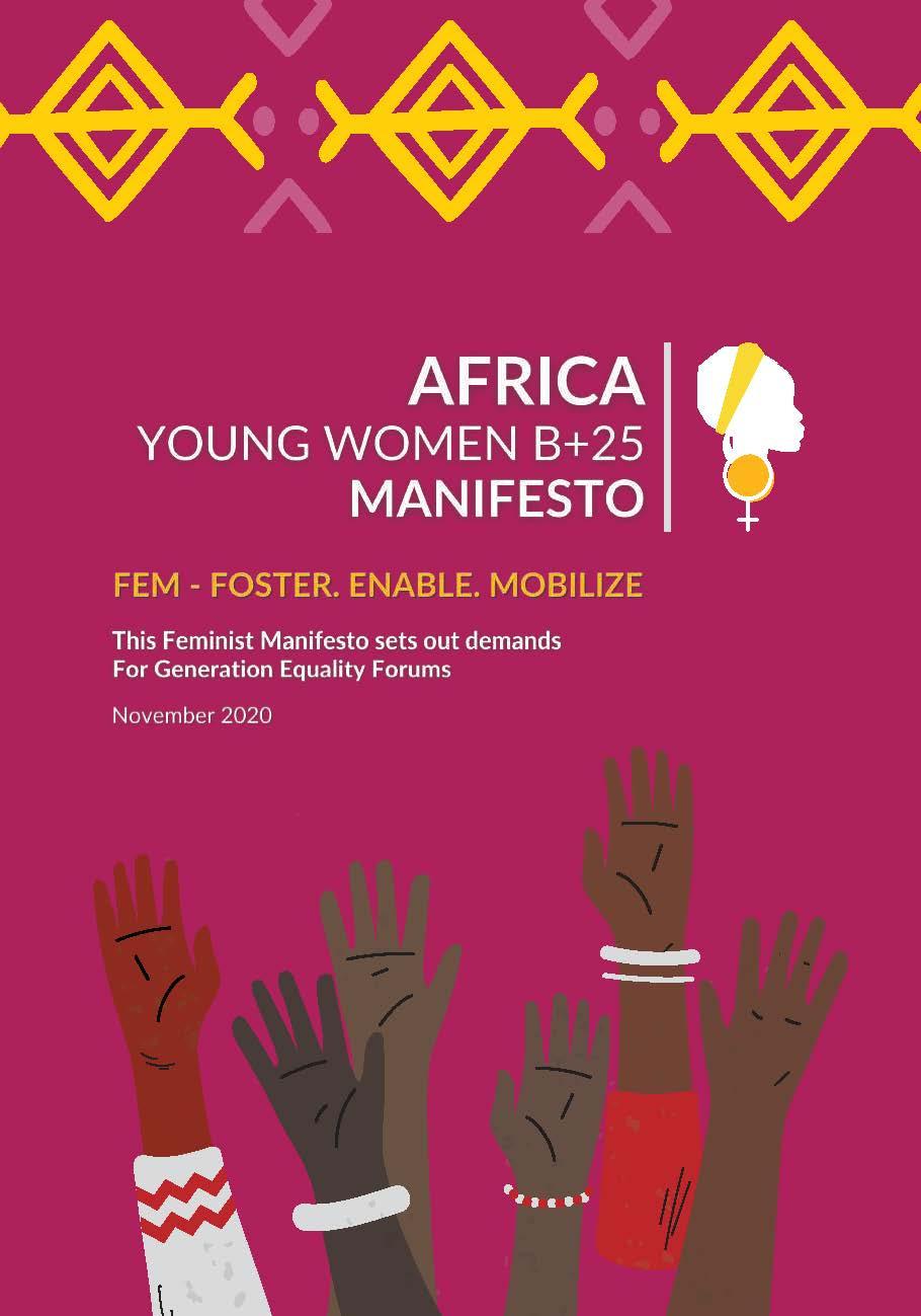Africa Young Women B+25 Manifesto