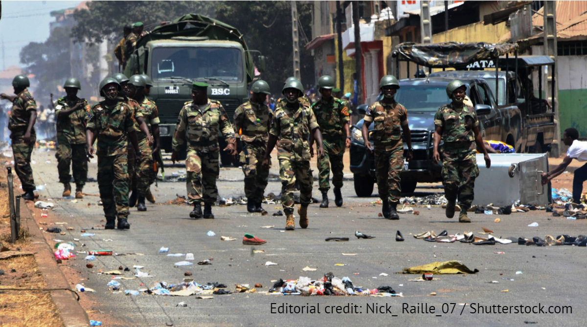 Conakry, Guinea, Sept. 5, 2021 -Editorial credit: Nick_ Raille_07 / Shutterstock.com